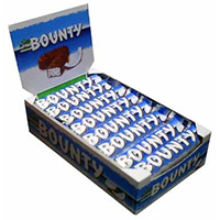 Rakhi with Bounty Chocolate Delivery in India