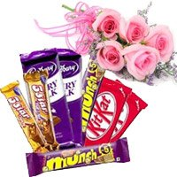 Send online Rakhi  with Chocolate Gift to India for Sister