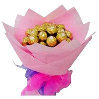 Rakhi Gift Delivery to India Chocolate Bouquet with Rakhi