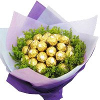 Rakhi with Chocolate Bouquet in India